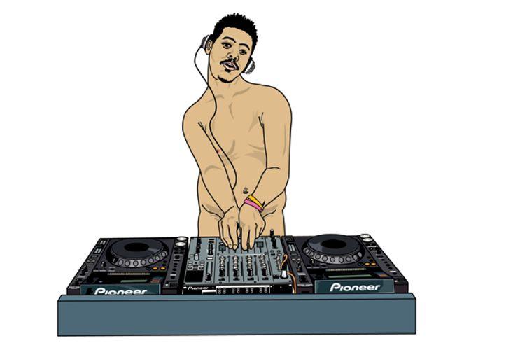 DJ poses