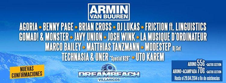 Armin encabeza las nuevas confirmaciones de Dreambeach