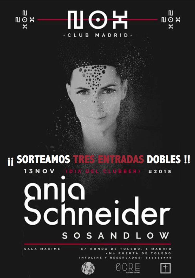 Anja Schneider visitará Nox Club Madrid el 13 de noviembre [+SORTEO]