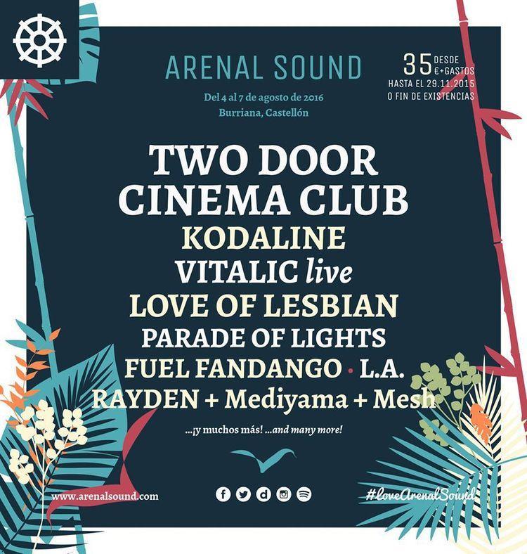 arenal sound 2016 artistas