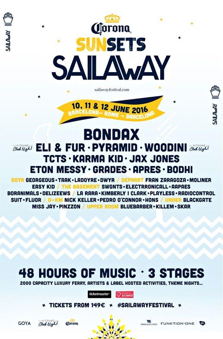 corona sail away festival cartel