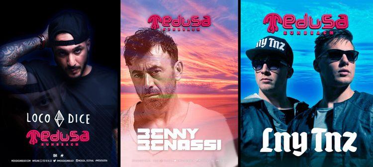Loco Dice, Benny Benassi y LNY TNZ estarán en Medusa