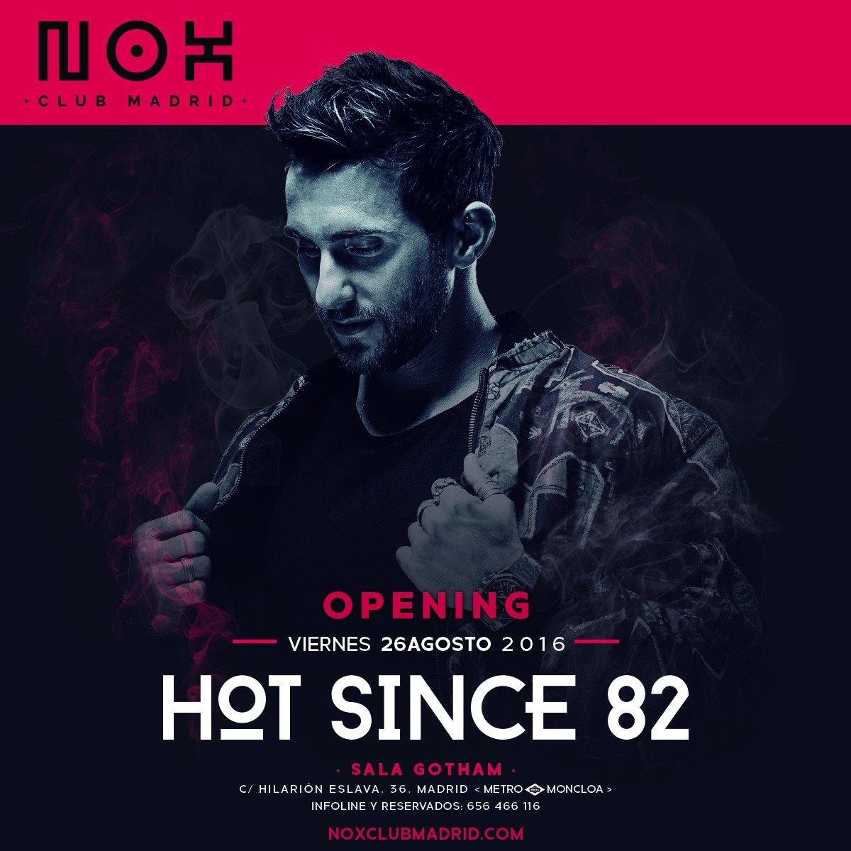 Nox Club Madrid estrena nueva temporada con Hot Since 82