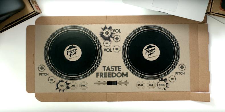 ¿Sabías qué... Pizza Hut ha inventado una caja con la que se puede pinchar?