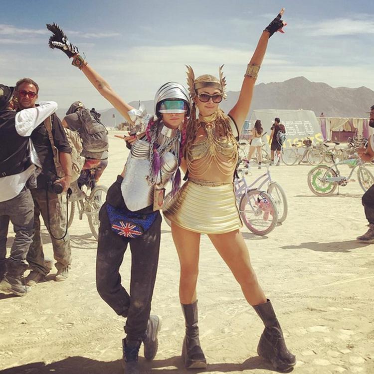 Burning Man Cara Delevngne Paris Hilton