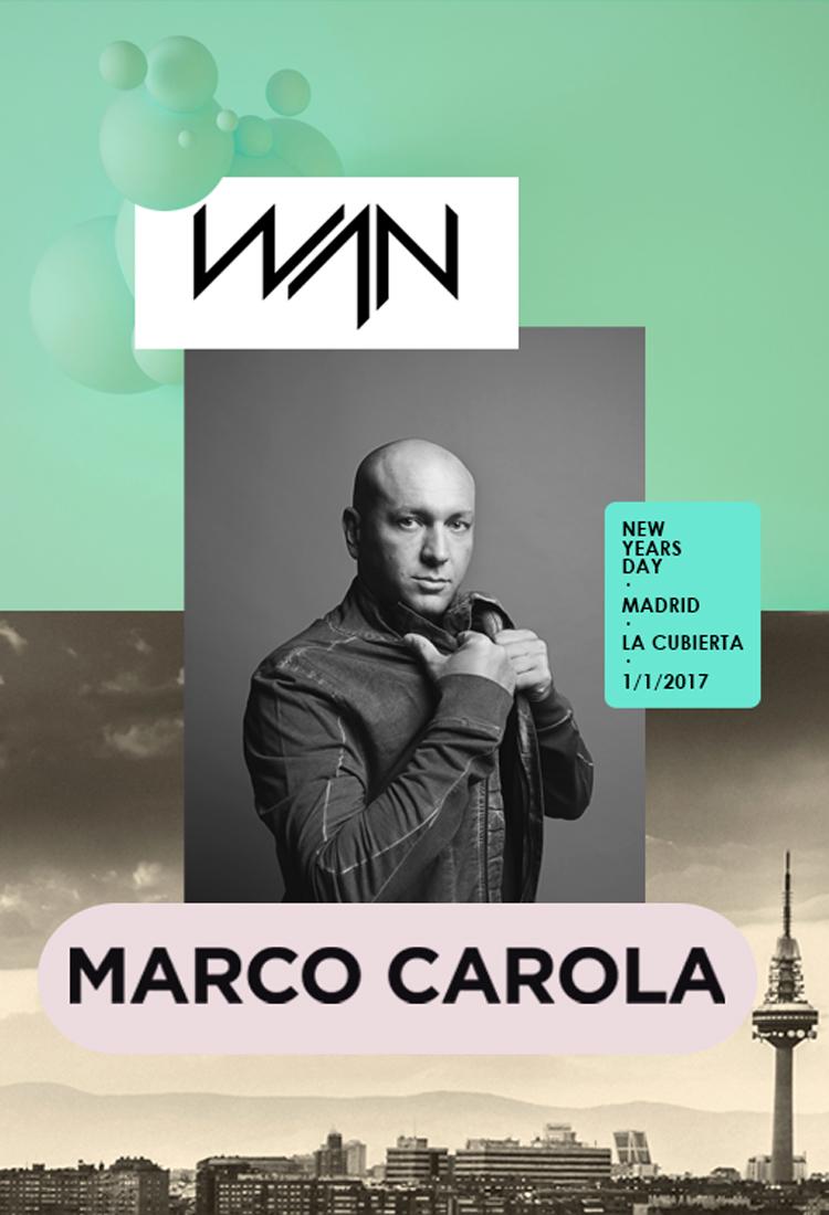Marco Carola es el primer confirmado de WAN Festival 2017