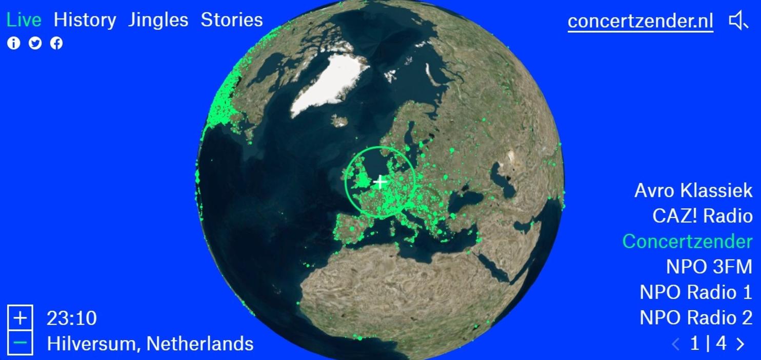 Radio.Garden, una radio mundial, online y a tiempo real