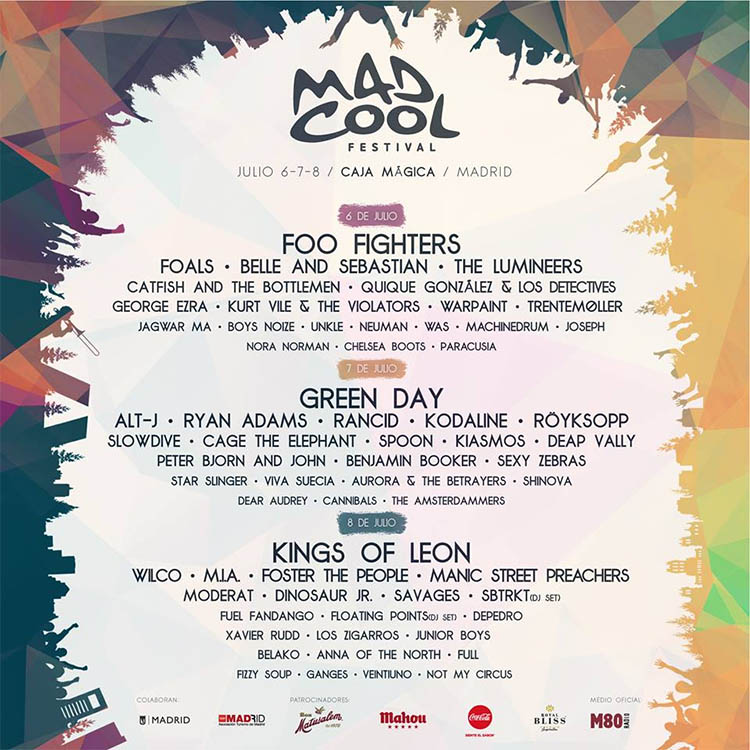 Mad Cool Festival 2017 cartel final