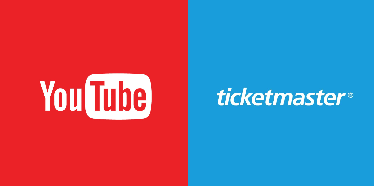 Youtube y Ticketmaster unen fuerzas para ser tu taquilla online