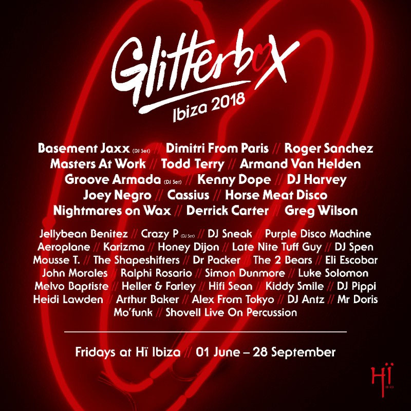 Glitterbox vuelve a Hï Ibiza con el mejor house y disco
