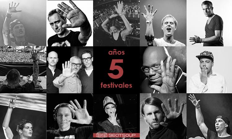 Cumplimos cinco años, sorteamos cinco festivales