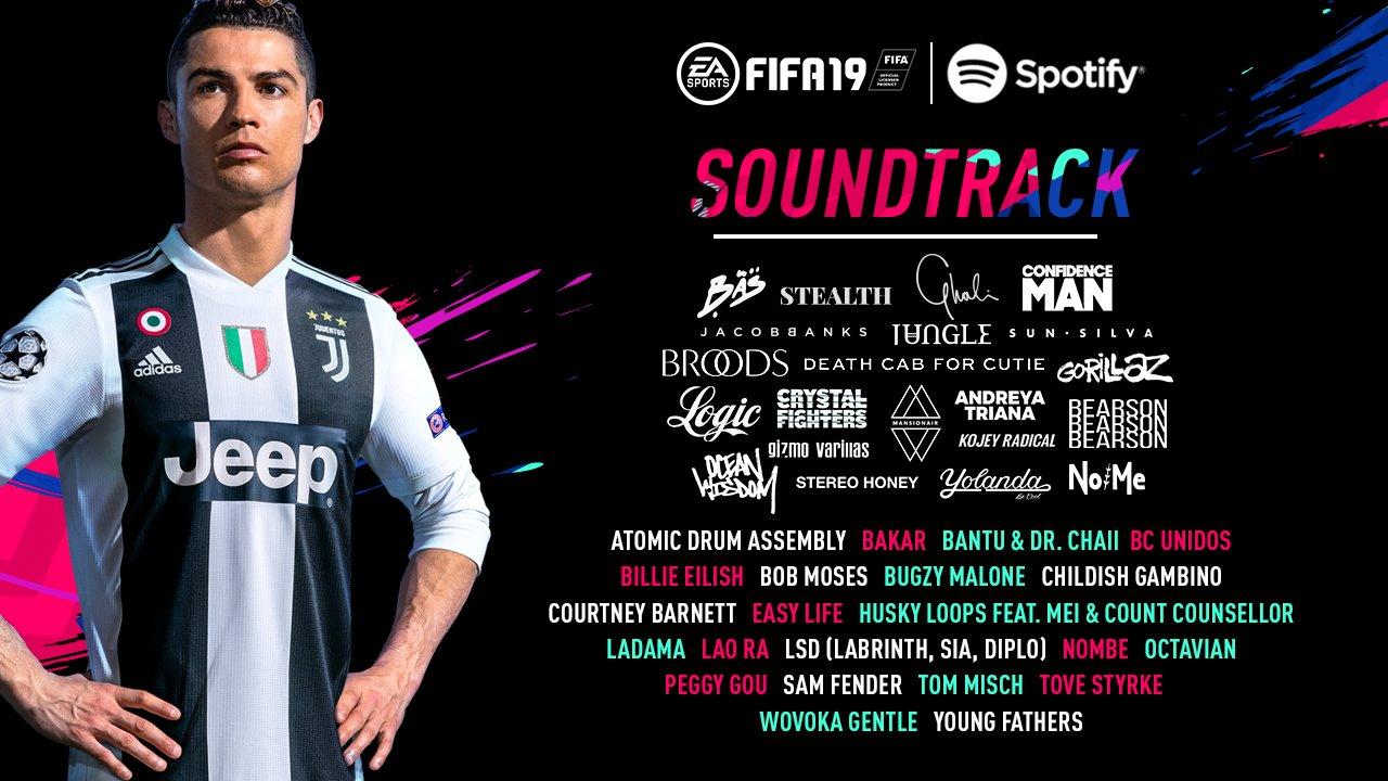 Lista de canciones de FIFA 2019