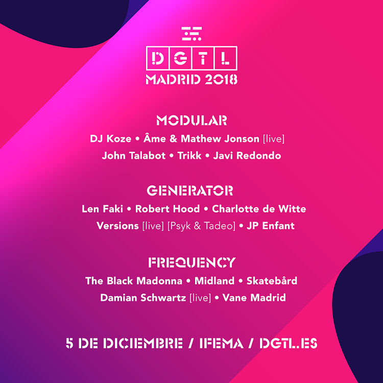 DGTL Madrid anuncia escenarios para el 5 de diciembre