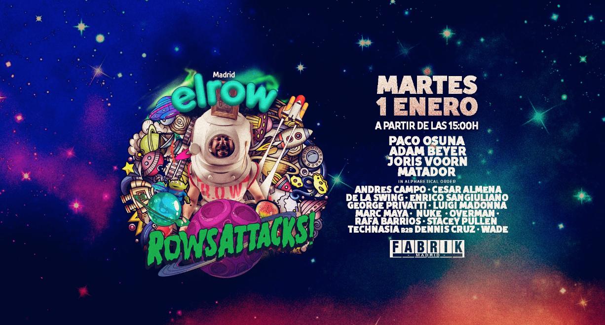 elRow inauguró el 2019 en Madrid de espectáculo