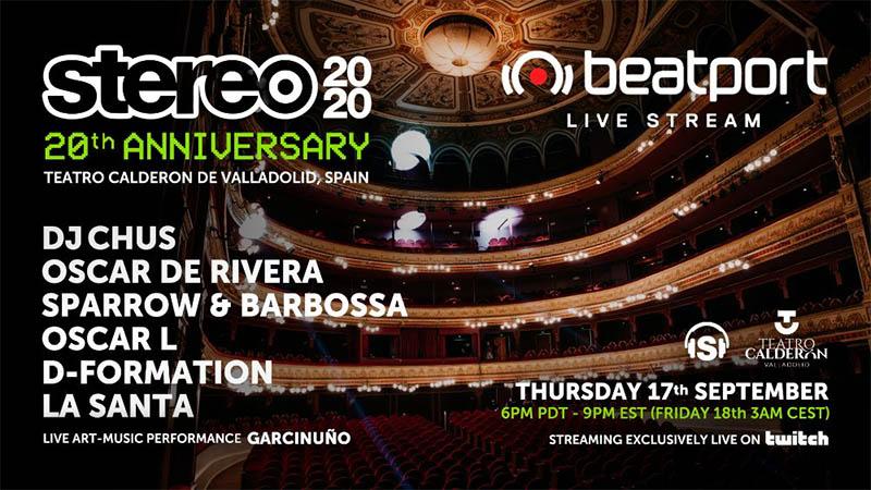 Beatport Live Stream para celebrar el 20 Aniversario de Stereo Productions